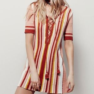 Free People Lollipop Shift Tunic Striped Dress